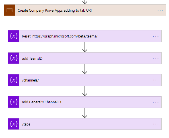 Adding a company PowerApps to (all) teams using Flow and Graph API